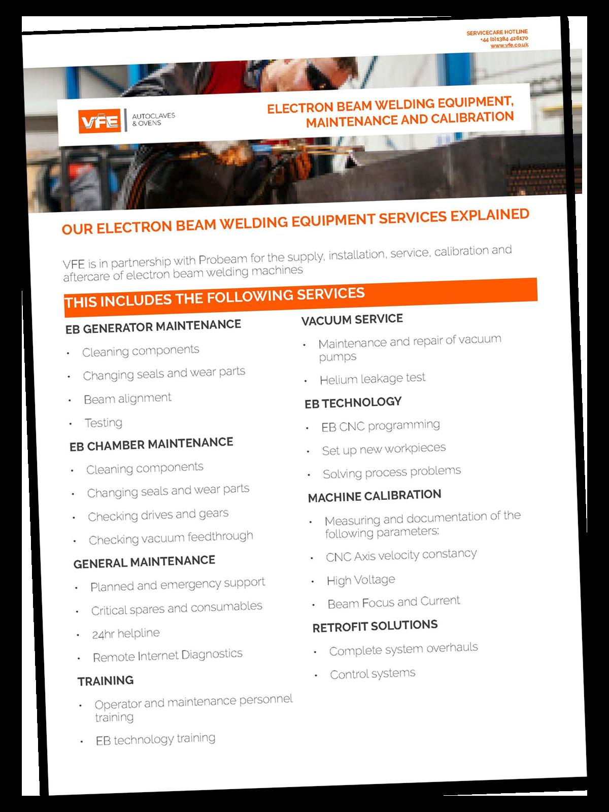 Electron Beam Welding Spread